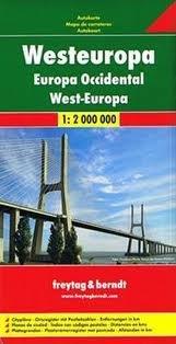 Westeuropa | autokaart, wegenkaart 1:2.000.000 9783707907551  Freytag & Berndt   Landkaarten en wegenkaarten Europa