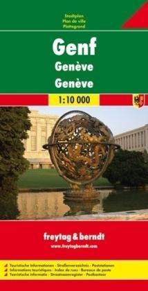 Genf 1:10.000 plattegrond Genève 9783707907902  Freytag & Berndt   Stadsplattegronden Berner Oberland, Basel, Jura, Genève