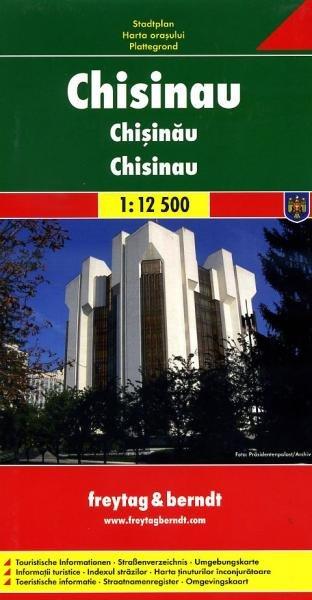 Chisinau 1:12.500 | stadsplattegrond 9783707909180  Freytag & Berndt   Stadsplattegronden Roemenië, Moldavië