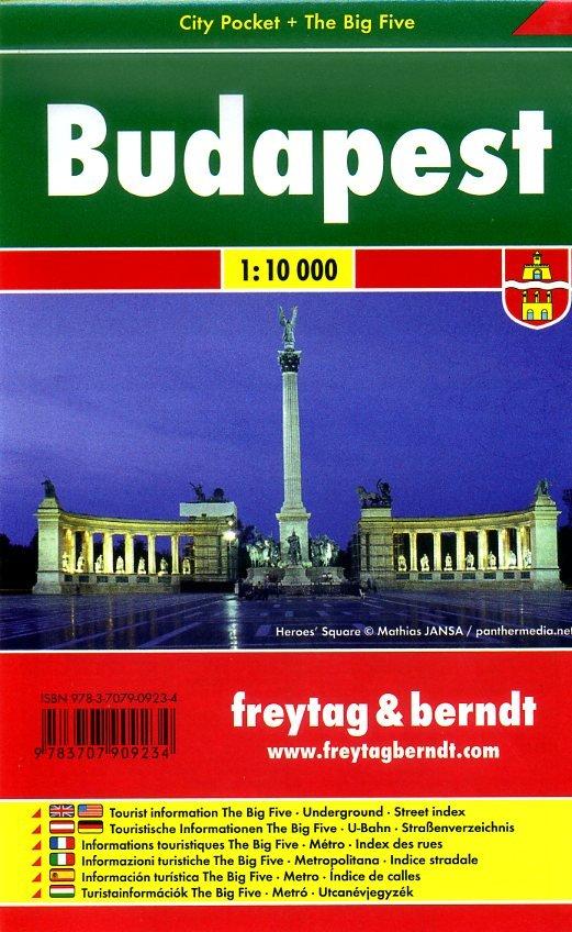 Budapest 1:10.000 | stadsplattegrond 9783707909234  Freytag & Berndt Compact plattegrond  Stadsplattegronden Hongarije