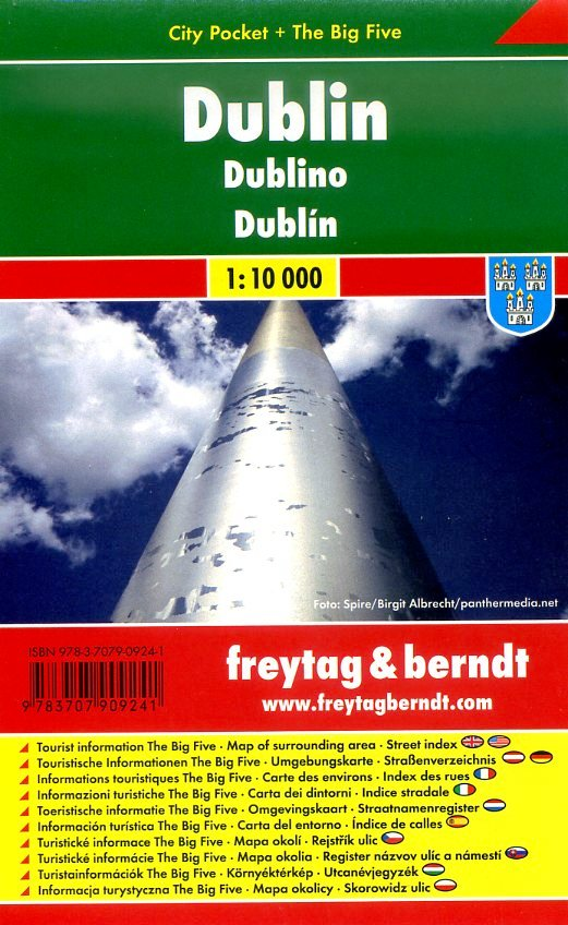Dublin 1:10.000   stadsplattegrond 9783707909241  Freytag & Berndt Compact plattegrond  Stadsplattegronden Dublin