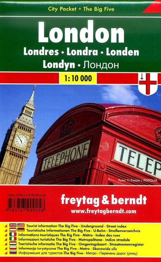 London 1:10.000 | stadsplattegrond 9783707909258  Freytag & Berndt Compact plattegrond  Stadsplattegronden Londen