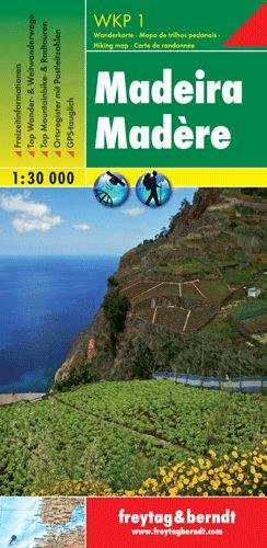 Madeira 1:30.000 (WKP1) 9783707909388  Freytag & Berndt Wandelkaarten Madeira  Wandelkaarten Madeira