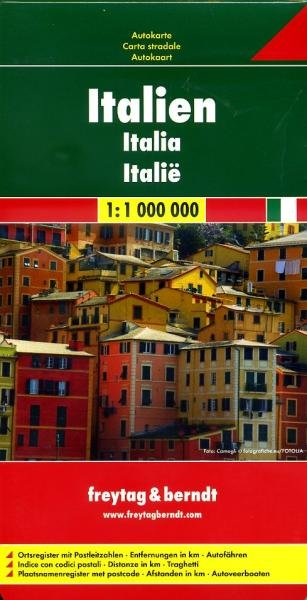Italië   autokaart, wegenkaart 1:1.000.000 9783707909586  Freytag & Berndt Italië Wegenkaarten  Landkaarten en wegenkaarten Italië
