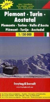 Piemonte | autokaart, wegenkaart 1:150.000 9783707909609  Freytag & Berndt Italië Wegenkaarten  Landkaarten en wegenkaarten Ligurië, Piemonte, Lombardije