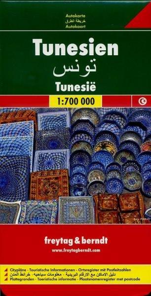 Tunesie   autokaart, wegenkaart 1:700.000 9783707909678  Freytag & Berndt   Landkaarten en wegenkaarten Algerije, Tunesië, Libië