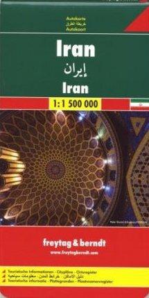 Iran | autokaart, wegenkaart 1:1.500.000 9783707909777  Freytag & Berndt   Landkaarten en wegenkaarten Iran, Afghanistan