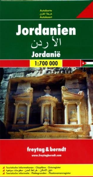 Jordanien | autokaart, wegenkaart 1:700.000 9783707909791  Freytag & Berndt   Landkaarten en wegenkaarten Syrië, Libanon, Jordanië, Irak
