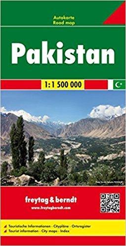Pakistan | autokaart, wegenkaart 1:1.500.000 9783707909821  Freytag & Berndt   Landkaarten en wegenkaarten Pakistan