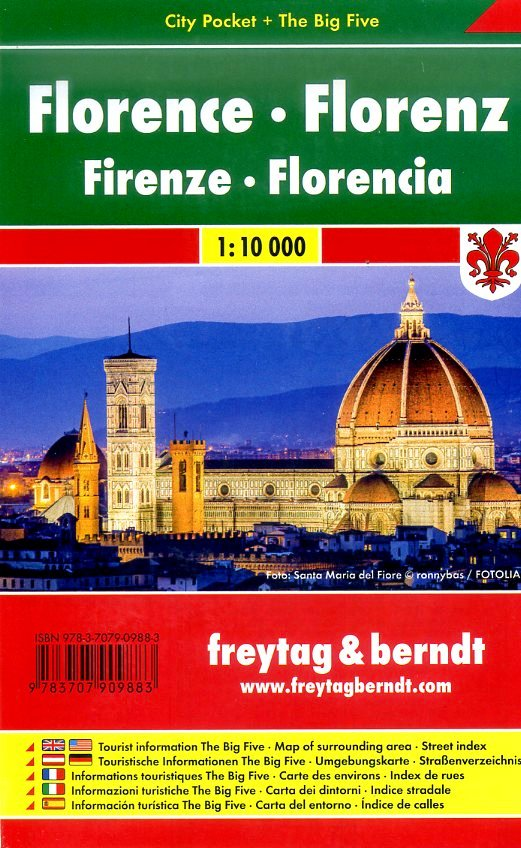 Florence 1:10.000 (Firenze) | stadsplattegrond 9783707909883  Freytag & Berndt Compact plattegrond  Stadsplattegronden Toscane, Umbrië, de Marken