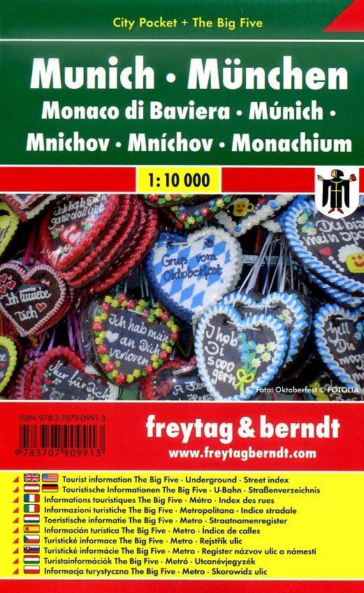 München 1:10.000 | stadsplattegrond 9783707909913  Freytag & Berndt Compact plattegrond  Stadsplattegronden München