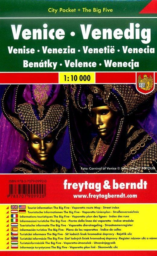 Venetië (Venezia) 1:10.000 | stadsplattegrond 9783707909920  Freytag & Berndt Compact plattegrond  Stadsplattegronden Venetië, Veneto, Friuli