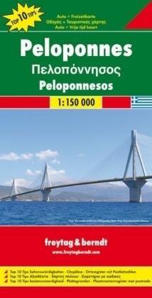 Peloponnesos | autokaart, wegenkaart 1:150.000 9783707910575  Freytag & Berndt   Landkaarten en wegenkaarten Peloponnesos