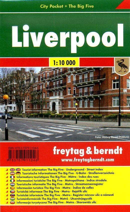 Liverpool 1:10.000 | stadsplattegrond 9783707911046  Freytag & Berndt Compact plattegrond  Stadsplattegronden Liverpool