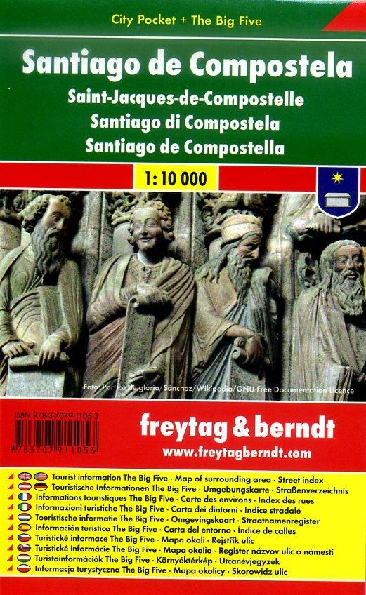 Santiago de Compostela 1:10.000 | stadsplattegrond 9783707911053  Freytag & Berndt Compact plattegrond  Santiago de Compostela, Stadsplattegronden Noordwest-Spanje, Compostela, Picos de Europa