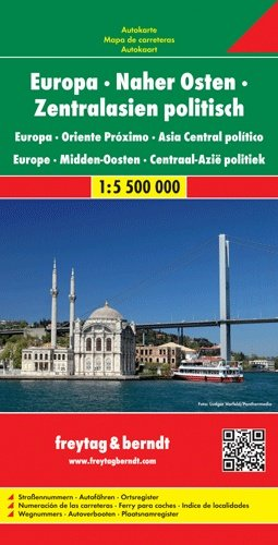 Europa / Midden-Oosten | overzichtskaart 1:5.500.000 9783707911503  Freytag & Berndt   Landkaarten en wegenkaarten Europa