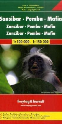 Zanzibar, Pemba, Mafia  | autokaart, wegenkaart 1:100.000 9783707911671  Freytag & Berndt   Landkaarten en wegenkaarten Tanzania, Zanzibar