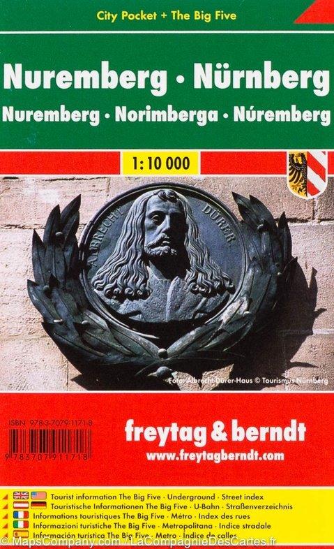 Nürnberg 1:10.000 | stadsplattegrond 9783707911718  Freytag & Berndt Compact plattegrond  Stadsplattegronden Franken, Nürnberg, Altmühltal