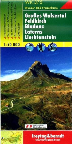 WK-375 Großes Walsertal, Feldkirch, Bludenz, Laterns 9783707912746  Freytag & Berndt WK 1:50.000  Wandelkaarten Tirol & Vorarlberg