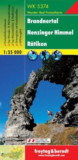 WK-5374  Brandnertal/Rätikon 1:35.000 9783707912753  Freytag & Berndt WK 1:35.000  Wandelkaarten Tirol & Vorarlberg