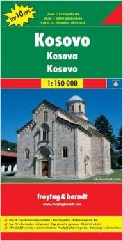 Kosovo Map | autokaart, wegenkaart 1:150.000 9783707912791  Freytag & Berndt   Landkaarten en wegenkaarten Servië, Bosnië-Hercegovina, Macedonië, Kosovo, Montenegro