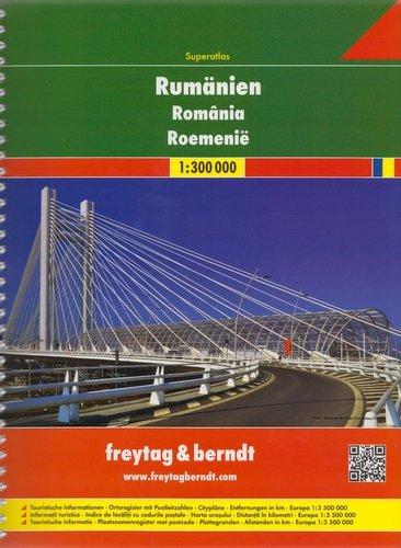 Roemenië wegenatlas 1/300.000 9783707913743  Freytag & Berndt   Wegenatlassen Roemenië, Moldavië