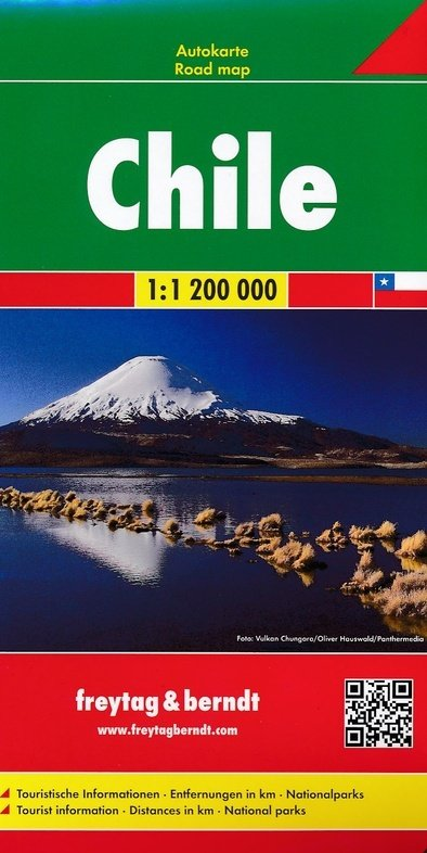 Chili    autokaart, wegenkaart 1:1.200.000 9783707914122  Freytag & Berndt   Landkaarten en wegenkaarten Chili, Argentinië, Patagonië