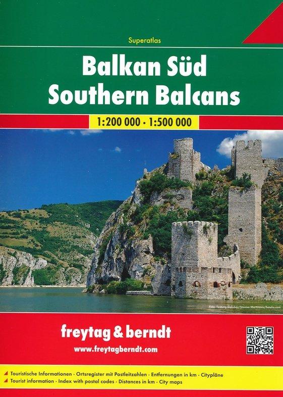 Balkan Zuid super atlas 1:200.000/500.000 9783707914207  Freytag & Berndt   Wegenatlassen Balkan