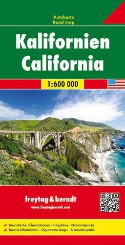 California | autokaart, wegenkaart 1:600.000 9783707914337  Freytag & Berndt   Landkaarten en wegenkaarten California, Nevada