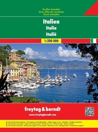 Italië Superatlas 1:200.000 9783707914351  Freytag & Berndt Wegenatlassen  Wegenatlassen Italië