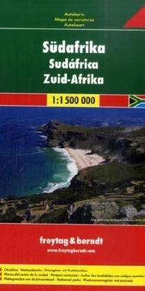 Zuid-Afrika    autokaart, wegenkaart 1:1.500.000 9783707914528  Freytag & Berndt   Landkaarten en wegenkaarten Zuid-Afrika