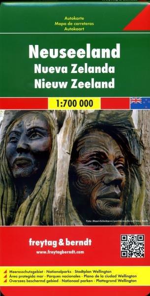 New Zealand   autokaart, wegenkaart 1:700.000 9783707914832  Freytag & Berndt   Landkaarten en wegenkaarten Nieuw Zeeland