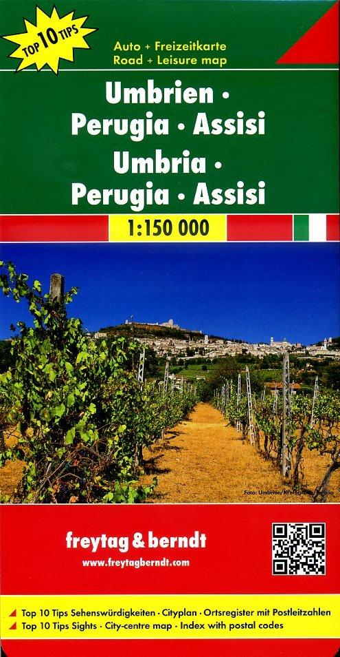 Umbria, Perugia | autokaart, wegenkaart 1:150.000 9783707914887  Freytag & Berndt Italië Wegenkaarten  Landkaarten en wegenkaarten Toscane, Umbrië, de Marken