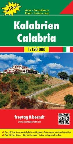 Calabria | autokaart, wegenkaart 1:150.000 9783707914931  Freytag & Berndt Italië Wegenkaarten  Landkaarten en wegenkaarten Napels en Zuid-Italië
