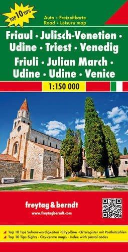 Friaul-Julisch-Venetien | autokaart, wegenkaart 1:150.000 9783707915167  Freytag & Berndt Italië Wegenkaarten  Landkaarten en wegenkaarten Venetië, Veneto, Friuli