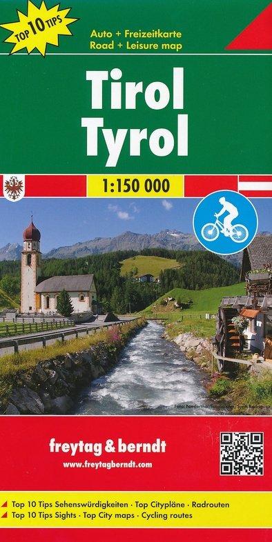 Tirol | autokaart, wegenkaart 1:150.000 9783707915273  Freytag & Berndt   Landkaarten en wegenkaarten Tirol & Vorarlberg