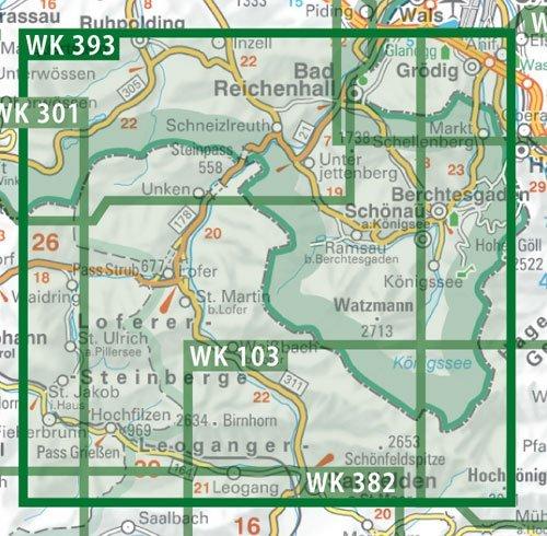 WK-393 Loferer und Leoganger Steinberge 9783707915570  Freytag & Berndt WK 1:50.000  Wandelkaarten Beierse Alpen, Salzburg, Karinthië, Tauern, Stiermarken