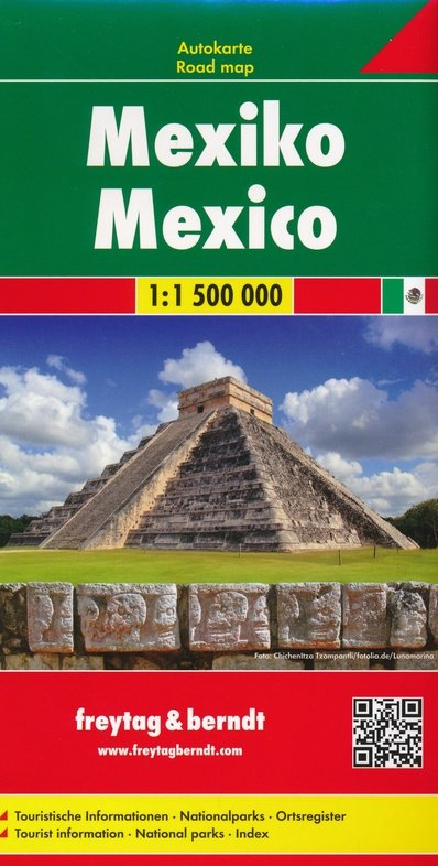 Mexico | autokaart, wegenkaart 1:1.500.000 9783707916546  Freytag & Berndt   Landkaarten en wegenkaarten Mexico (en de Maya-regio)
