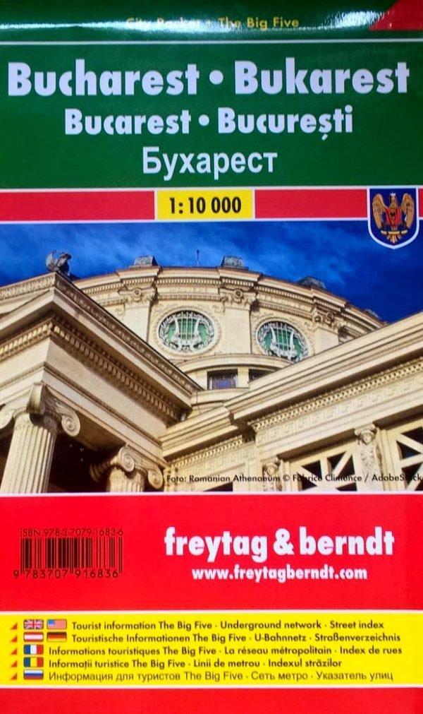 Bukarest  (Boekarest, Bucharest) 1:10.000   stadsplattegrond 9783707916836  Freytag & Berndt Compact plattegrond  Stadsplattegronden Roemenië, Moldavië