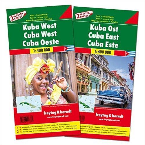 Cuba   autokaart, wegenkaart 1:400.000 9783707916881  Freytag & Berndt   Landkaarten en wegenkaarten Cuba
