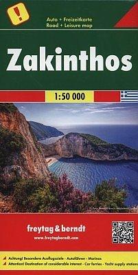 Zakynthos | autokaart, wandelkaart 1:50.000 9783707917130  Freytag & Berndt   Landkaarten en wegenkaarten, Wandelkaarten Ionische Eilanden (Korfoe, Lefkas, etc.)