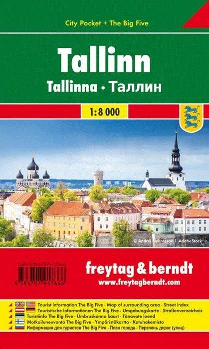 Tallinn 1:8.000 | stadsplattegrond 9783707917666  Freytag & Berndt   Stadsplattegronden Estland