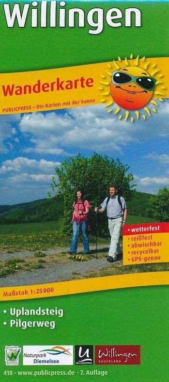 Willingen, omgeving | wandelkaart 1:25.000 9783747304181  Publicpress Wandelkaarten - mit der Sonne  Wandelkaarten Sauerland, Münsterland, Teutoburger Wald