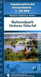Naturpark Unteres Odertal 1:50.000 9783749040995  LVA Brandenburg   Wandelkaarten Brandenburg & Sachsen-Anhalt
