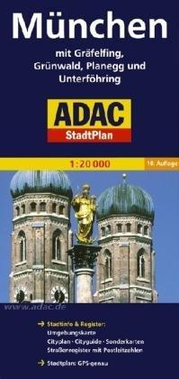 München 9783826405334  ADAC ADAC Stadsplattegrond  Stadsplattegronden Beierse Alpen en München