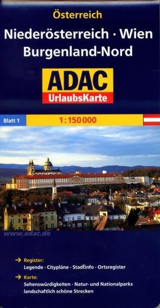 AO-1 Niederösterreich, Wien, Burgenland-Nord 9783826416378  ADAC Österr. 1:150.000  Landkaarten en wegenkaarten Wenen, Noord- en Oost-Oostenrijk