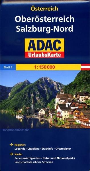 AO-3 Salzburg/Salzkammergut/Innviertel/Mühlv. 9783826416392  ADAC Österr. 1:150.000  Landkaarten en wegenkaarten Salzburg, Karinthë, Tauern, Stiermarken