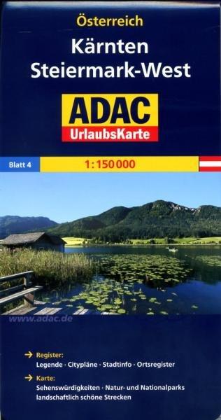 AO-4  Kärnten 9783826416408  ADAC Österr. 1:150.000  Landkaarten en wegenkaarten Salzburg, Karinthë, Tauern, Stiermarken