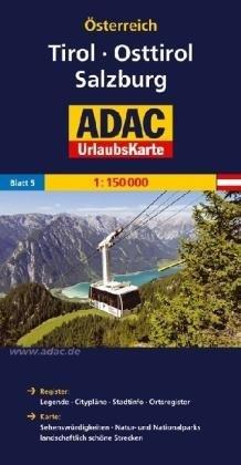 AO-5 Tirol, Osttirol, Salzburg 9783826416415  ADAC Österr. 1:150.000  Landkaarten en wegenkaarten Salzburg, Karinthë, Tauern, Stiermarken