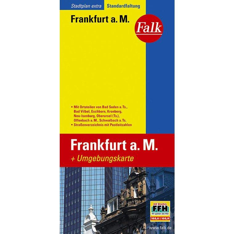 Frankfurt 1:20.000 9783827923080  Falk Stadsplattegronden  Stadsplattegronden Hessen